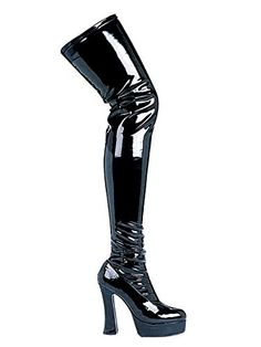 Thrill Thigh High Boots Adult Shoes Black  Size 7 >>> Check this awesome product by going to the link at the image. (This is an affiliate link) #ThighHighBoots