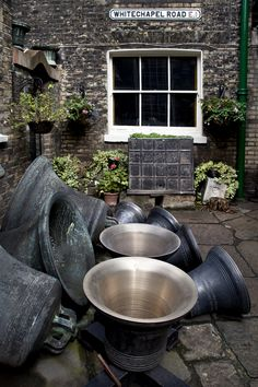 The Whitechapel Bell Foundry - The foundry is listed by the Guinness Book of Records as the oldest manufacturing company in Great Britain. The foundry's main business is the bellfounding and manufacture of church bells and their fittings and accessories, although it also provides single tolling bells, carillon bells and handbells. The foundry's premises are a Grade II listed building.