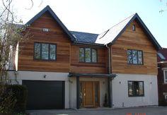 26 ideas for exterior wood cladding ideas window Oak Cladding, House Cladding, Exterior Cladding, Cladding Ideas, Stucco Exterior, Home Exterior Makeover, Exterior Remodel, Exterior House Colors, Exterior Design