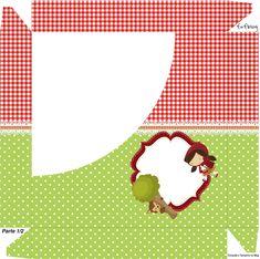 Caixa Bombom Chapeuzinho Vermelho - Parte de cima