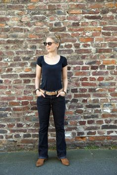 fashionrevolution - thrifted boot cut jeans and vegan leather boots - fruchtflash  Thrifted #levis for #fashionrevolution