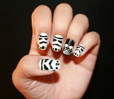 @Andrew Mager Wickham, I would say you should do this, but perhaps it would look better on Collette...you should paint Collette's nails like this