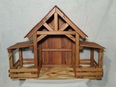Reclaimed Wood Nativity Stable Creche Handcrafted Manger Barn with side pens Nativity Creche, Nativity Stable, Nativity Crafts, Wood Crafts, Outdoor Nativity, Christmas Crib Ideas, Christmas Manger, Christmas Wood, Christmas Crafts