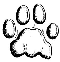 Lion Paw Print Coloring Page Sketch
