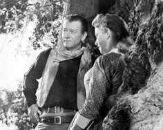 HONDO (1953) - John Wayne & Geraldine Fitzgerald - Directed by John Farrow - Warner Bros. - Publicity Still.