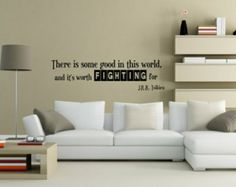 Vinyl Decal quote wall decal art vinyl lettering sticker There is some good in the world and its worth fighting for  FREE SHIPPING