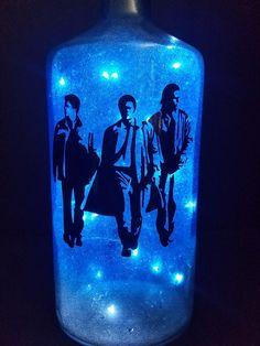 Supernatural lighted bottle Sam Winchester Dean Winchester