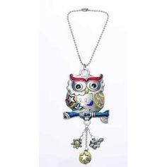 Owl Color Art Car Charm - http://www.carhits.com/owl-color-art-car-charm/ - CarHits