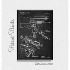 AR-15 Rifle Patent Print
