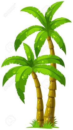 Illustration of the two palm trees on a white background Illustration der beiden Palmen auf weißem Hintergrund Lizenzfreie Bilder – 23185011 Palm Tree Clip Art, Palm Tree Drawing, Palm Tree Vector, Vector Trees, Vector Vector, Vector Stock, Palm Tree Background, Background Drawing, Cartoon Background