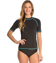 Sporti Women's S/S Swim Shirt - Black - Medium 18.99