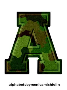 Camo Birthday, Boss Birthday, Ksa Saudi Arabia, Bulletin Board Letters, Monogram Alphabet, Typography, Lettering, Letters And Numbers, Military Green