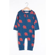 Organic cotton long sleeve romper with all over Elephants print. Snaps at neck and legs for easy dressing. Barcelona, Baby Leggings, Elephant Print, Long Sleeve Romper, Simple Dresses, Best Brand, Organic Cotton, Kids Outfits, Dressing
