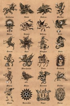 Goetia: The Lesser Key of Solomon Signed Poster Print Embossed Seal, Occult Art, Occult Symbols, Satanic Art, Magic Symbols, Unicorn Art, Angels And Demons, Fantasy, Anime Demon