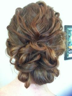 bridal up do curly - Google Search