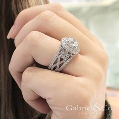 It's about the details on every side. Discover this diamond engagement ring by clicking the link in our bio. . . . . . #GabrielNY #GabrielAndCo #NewYorkCity #EngagementRing #Bridal #NewYork #NYC #LoveYou #Tulips #BrideToBe #BridetoBride #Diamonds #Love #Ring #TrueLove #MustHave #DreamWedding #WeddingInspiration #Glamour #Heart #love #anniversary #design #jewelry #whitegold #diamond #ringgoals Style #: ER11998