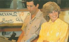 March 21, 1983: Princess Diana in Alice Springs playing hostess to a radio phone-in and answer questions from children all over the outback.