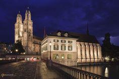 Гроссмюнстер – #Швейцария #Цюрих (#CH_ZH) Достопримечательность Цюриха.  ↳ http://ru.esosedi.org/CH/ZH/1000251258/grossmyunster/