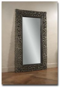 Leaner Mirror in Distressed Dusty Antique Burnished Copper
