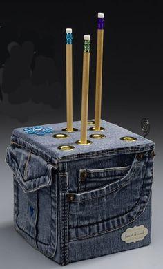 ´Porta lápis jeans