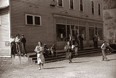 This picture was taken in 1938, and shows the Company Store in the coal mining town of Caples, West Virginia. Company stores extended credit to workers in the mine. The stores typically charged exorbitant prices. Typically it cost more to shop at the Company Store than what the miners earned. This created a form of indentured servitude, in that at any given time, the miners typically owed money to the story.