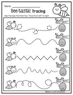Kindergarten Workbooks, Literacy Worksheets, Math Literacy, Preschool Literacy, Tracing Worksheets, In Kindergarten, Preschool Art Projects, Preschool Crafts, Preschool Learning Activities