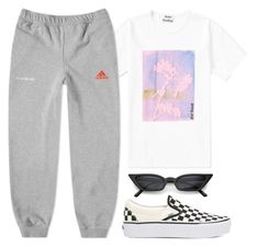 """1071"" by florentina616 ❤ liked on Polyvore featuring Acne Studios, adidas and Vans"