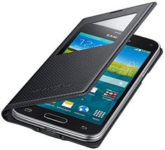 http://ift.tt/1Oj7yKe Samsung S-View Hülle Case Cover für Samsung Galaxy S5 Mini Punching Pattern  Schwarz &(bibuby)#$