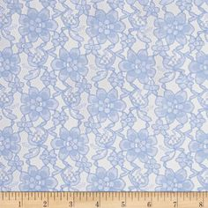 Raschelle Lace Baby Blue from @fabricdotcom  Delicate and classic, this sheer lace has no significant stretch and a pearlized sheen. This lace fabric appropriate for lingerie, overlays on skirts or dresses, feminine apparel accents, wraps or shrugs, and even home decor accents.