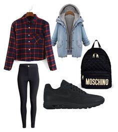 """""""Untitled #296"""" by sophia-solzbacher on Polyvore featuring Amaya, NIKE, H&M and Moschino"""