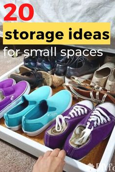 Cheap and simple storage solutions for small apartment and home. Storage hacks and tips for small kitchen, closet, bedroom, living room and bathroom. #hometalk #storagehacks #smallspacestorage #storagesolutions