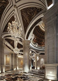 Luxury Grand Domed Foyer Interior Design Soft Outfit Design/Interior Design/ High-end Performance Contemporary Interior Design, Luxury Interior Design, Interior Architecture, Luxury Home Decor, Luxury Homes, Egyptian Home Decor, Hotel Lobby Design, Lobby Interior, Cute Home Decor