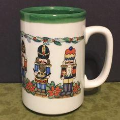 Otagiri Nutcrackers Christmas Coffee Mug Cup Japan 14oz  #Otagiri