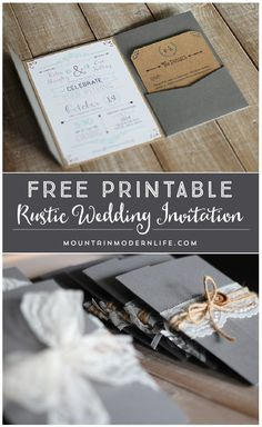 FREE Printable Wedding Invitation Template Free Printable - Diy rustic wedding invitations templates
