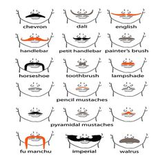 many brands of mustaches.... I <3 it!