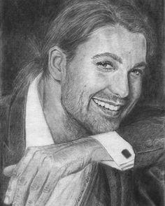 David by Lanka @davidgarrettinsta #davidgarrett #violinist #virtuoso #music #musician #davidgarrettmusic #portrait #drawing #pencildrawing