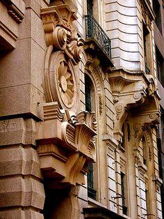 building facades, Praça Padre Manoel da Nóbrega, Centro de São Paulo, Brazil