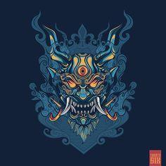 "Onimushi ""Japanese Themes"" on Behance Japanese Tattoo Symbols, Japanese Tattoo Art, Japanese Sleeve Tattoos, Japanese Art Prints, Japanese Art Modern, Traditional Japanese, Graffiti Wallpaper Iphone, Cute Wallpaper Backgrounds, 3d Wallpaper"