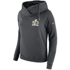 Nike Women s Super Bowl 50 Rally Funnel Hoodie ( 65) ❤ liked on Polyvore  featuring b25085278