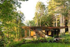 Design Hub - блог о дизайне интерьера и архитектуре: Американская дача в лесу с видом на океан