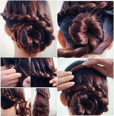 Low bun hair tutorial #braid #bun #hair