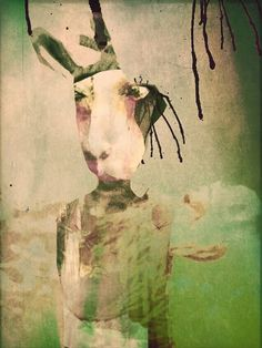 """Saatchi Art Artist Diana Nicholette Jeon; Painting, """"Go Ask Alice I (from the series, Go Ask Alice)"""" #art"""