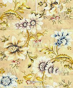 Design for woven silk, by Anna Maria Garthwaite. England, early 18th century