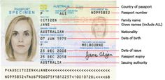 Information about passport notation. Please click on the link below this to see further information