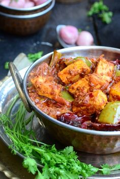 Restaurant Style Karahi Paneer Indian cottage Cheese in a Spicy Gravy