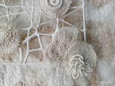 Discover recipes, home ideas, style inspiration and other ideas to try. Embroidery Sampler, Embroidery Stitches, Hand Embroidery, Weaving Textiles, Textile Fabrics, Creative Textiles, Contemporary Embroidery, Textile Texture, Textile Artists