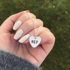 NCT Heart Necklace Silver 127 U Dream 2018 NCTzen Kpop Fan | Etsy Jewelry Kpop, Korean Jewelry, Friendship Necklaces, Friendship Gifts, Metal Jewelry, Vintage Jewelry, Unique Jewelry, Jewlery, Jewelry Accessories