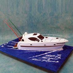 Speedboat Cake Tutorial BY Puckycakes Georgia Suter Tutorial - Boat birthday cake ideas