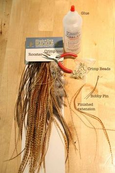 Make your own feather hair extensions. Scroll down to the comments to see a step-by-step tutorial.