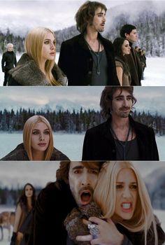 """The Twilight Saga: Breaking Dawn Part 2"" (2012) >> Samantha ""Casey"" LaBow (Katrina ""Kate"" Denali) & Lee Pace (Garrett) <3"